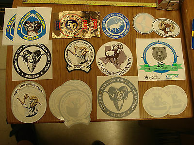 Collection of 21 BC WILDLIFE FEDERATION RAM STICKERS & DECALS Plus lots more