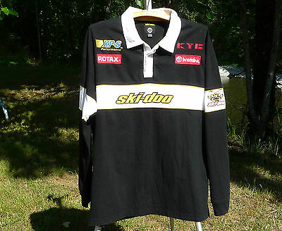 Skidoo Racing Shirt Xl Polo Style Bombardier Xl Rotax Brembo Kb Xps Performance