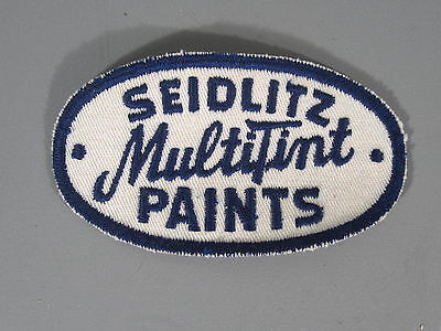 Seidlitz Paints Patch / New Old Stock of Closed Embroidery Company / FREE Ship