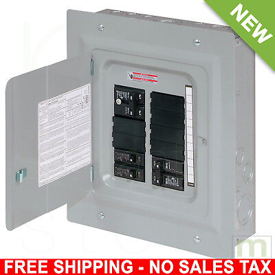 100 Amp Breaker Panel Electrical Board 20-Circuit 10-Space Load Center Main