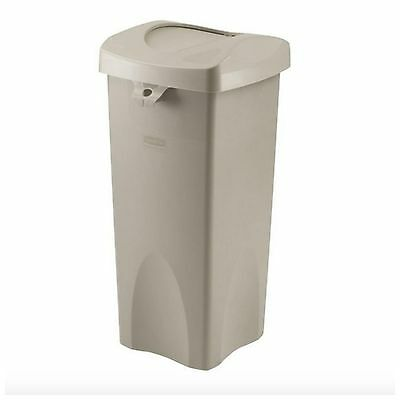 Rubbermaid Commercial Restaurant Outdoor Swing Top Trash Garbage Can 23 Gallon