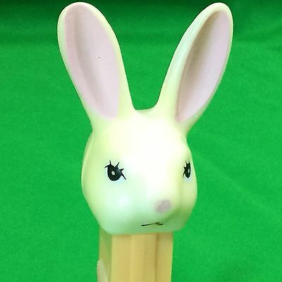Vintage Pez Candy Dispenser Bunny Rabbit White Yellow Easter