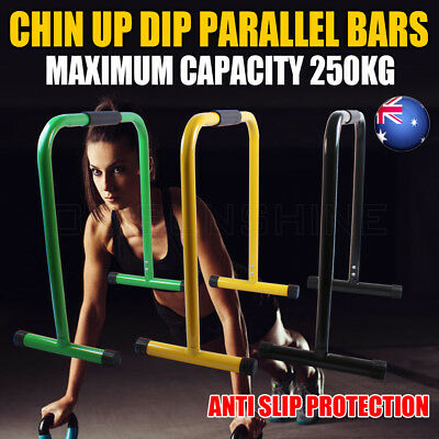 Fitness Chin Up Dip Parallel Bars Parallette Training Stand Push Equaliser Cross