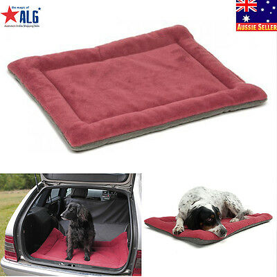 Warm Pet Bed Cushion Pad Dog Cat Cage Kennel Crate Soft Cozy Mat