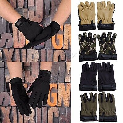 Outdoor Bike Gloves Motorcycle Airsoft Tactical Hunting Full Finger Gloves New
