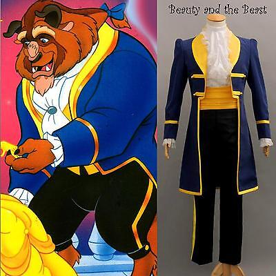 Hot Beauty and the Beast Prince Adam halloween Cosplay Costume Suit Full Set New