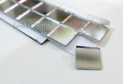 "Mirror Mosaic Glass Tiles 200 Piece 0.4"" Size Adhesive Sheet Deco Art Craft New"