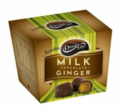907813 BOX OF DARRELL LEA YUMMY MILK CHOCOLATE COVERED GINGER 200g