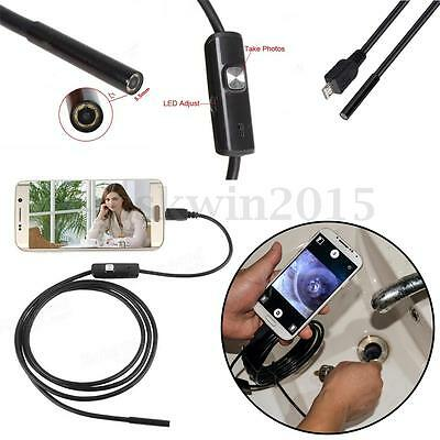 1/2/3.5/5M IP67 6 LED Micro USB Endoscope Borescope Waterproof For Android Phone