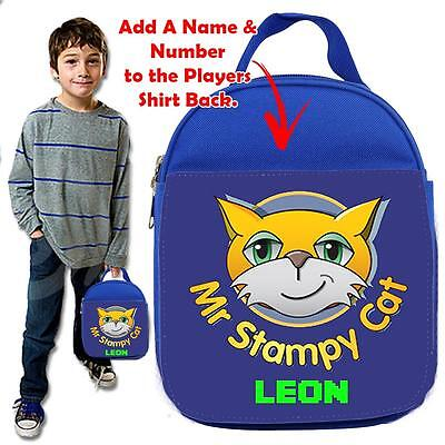 Personalised STAMPY CAT MINE GAMER BLUE Lunch Bag Insulated Cool Box SCHOOL