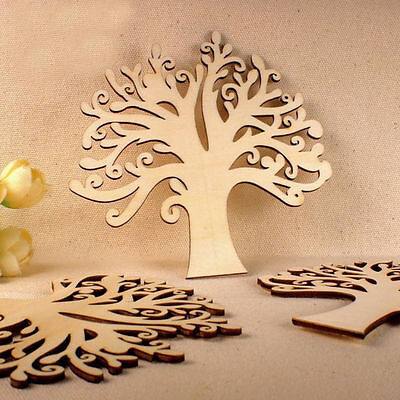 Family Tree Set MDF Wooden Laser Cut Craft Blank Shape Wedding Guestbook New Art