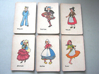 Playing Cards Antique Waddy Production All Nations Complete 48 Cards 1915 - 1920