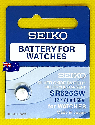 SR626SW (377) Seiko Battery, Brand New