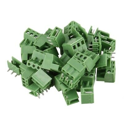20 Pcs 5.08mm 3 Way PCB Mount Screw Terminal Block for 14-22 AWG Wire PK