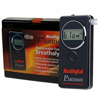 AlcoDigital Platinum Breathalyzer with Replaceable Fuel Cell Sensor RRP £179.95
