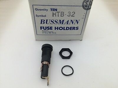 (10 pcs) HTB-32 Bussmann, 20A  250V 1 Pole, Panel Mount Fuse Holder