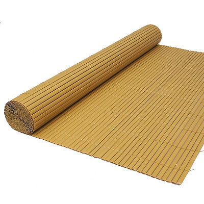 Artificial Bamboo Cane Garden Screening Fencing Screen Fence Panel Roll 1.5 x 4m