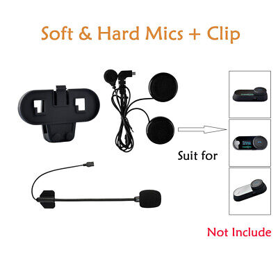Motorcycle Helmet Headset Mic Speaker Intercom Clamp Bluetooth Interphone BT FDC