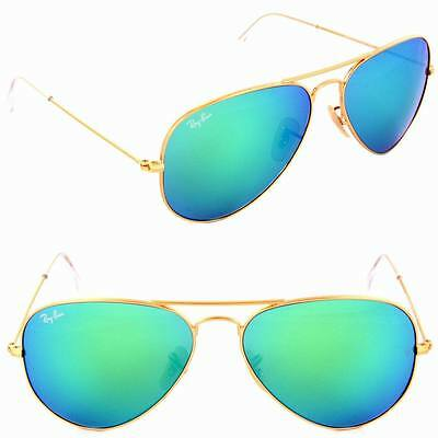 c0025e9a44 Ray Ban Sunglasses RB3025 3025 112 19 58 mm Green Mirror Flash Lens Aviator