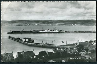Scotland - Wigtownshire - Stranraer Harbour - Rp Postcard - Posted