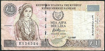 Cyprus - One Pound £1 Banknote - 1997 Series P57