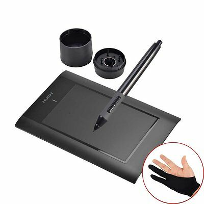 """Huion 8x 5"""" Art Graphic Drawing Painting Tablet USB Animation Design Board+Glove"""