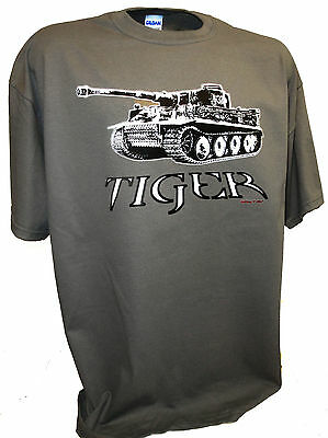 Tiger Tank Panzer German World of Tanks Ss Division Ww2 1/35 Scale Rc Model Tee