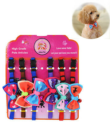 Wholesale Lot 12 Fashion Cute Dog Puppy Cat Kitten Pet Bow Tie Necktie Collar
