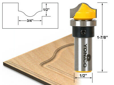 """Profile Groove Template Router Bit - 1/2"""" Shank - Yonico 14978"""