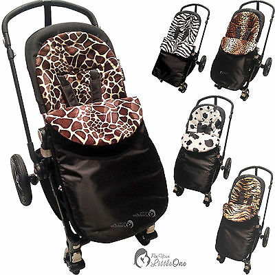 Animal Print Padded Footmuff Compatible With Quinny Buzz/zapp/moodd/mura