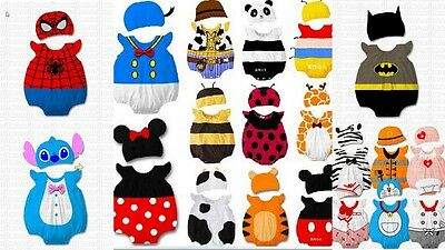 Baby Boy Girl Stitch Mario Woody Animal Costume Photo Hat Beanie Minnie Mouse