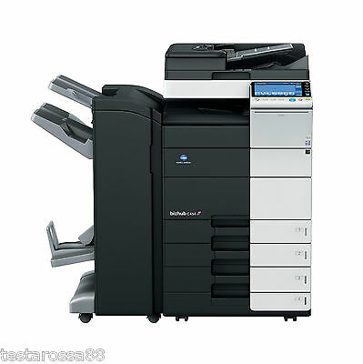Konica Minolta Bizhub C454 Photocopier Printer Copy & Scan with Booklet Finisher