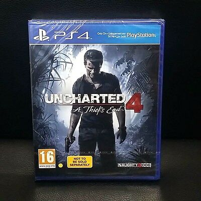 Uncharted 4 A Thiefs End PS4 Game BRAND NEW SEALED - PAL