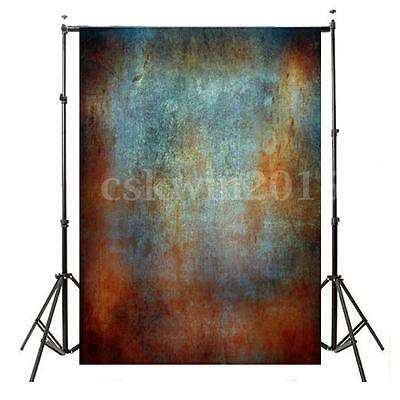 5x7FT Vinyl Abstract Bule Wall Backdrop Studio Photography Photo Background Prop