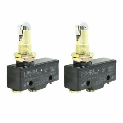 2X Z-15GQ22-B 3 Screw Terminals Panel Mount Roller Plunger Basic Limit Switch WS