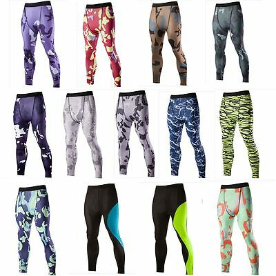 Gents Men's Women Compression Pants Base Layer Long Tight Running Legging Sport