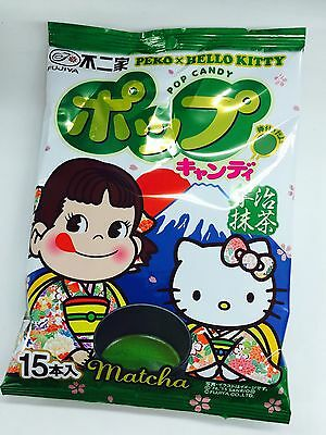 Fujiya Pop Candy Matcha Lollipops 15pcs from Japan