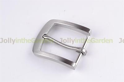 Stainless Steel Pin Buckle For Men Leather Belt Replacement Snap On 40mm