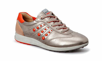 ECCO Womens Street Evo One Moon Hydromax Spikeless Leather Golf Shoes