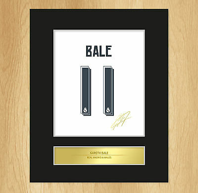 Gareth Bale Signed Mounted Artistic Photo Display Real Madrid