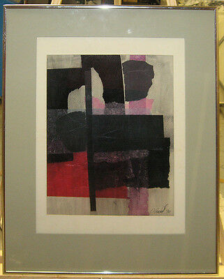 Constantine Arvanites '70 Abstract Collage Listed Boston Rockport Artist