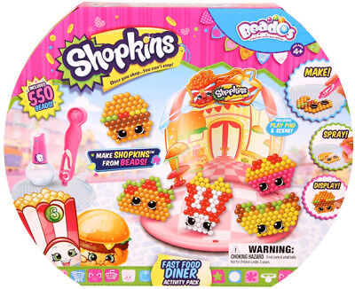Beados Shopkins Activity Pack - Fast Food Diner | Bead Craft Activity for Kids