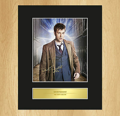 David Tennant Dr Who Signed Mounted Photo Display The Tenth Doctor