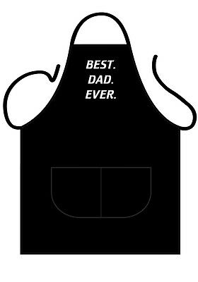 "Men's Black Printed Novelty Apron ""best Dad Ever"" Great Gift For Father's Day"