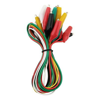10PCS Both Ends Crocodile Alligator Clip Electronic Cable Test Lead Jumper Wire