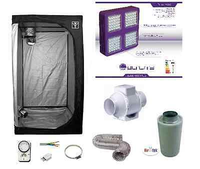 Growroom 100x100x200cm completa kit Cultilite 300W LED Agro dual indoor +filtro