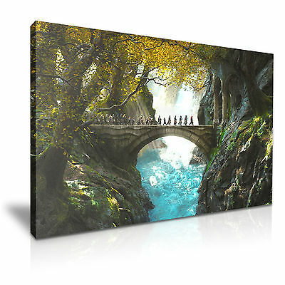 Hobbit Lord Of The Rings Battle Movie Canvas Framed Print Wall Art ~ More Size