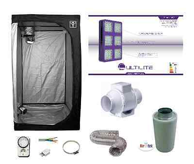 Growroom 120x120x200cm completa kit Cultilite 450W LED Agro dual indoor +filtro