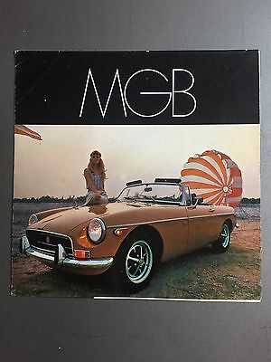 1969 MG MGB Showroom Sales Folder / Brochure RARE!! Awesome L@@K