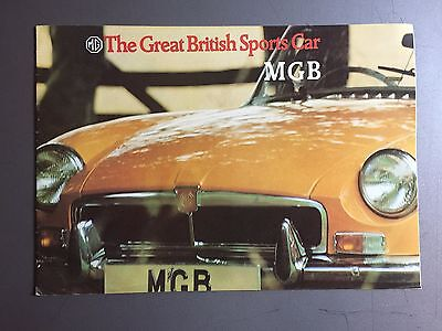 1970 MG MGB Showroom Advertising Sales Brochure RARE!! Awesome L@@K